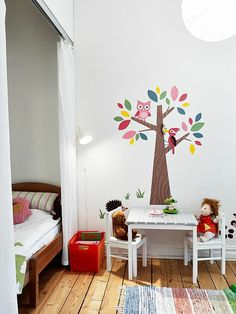 30 Ideen für Kinderzimmergestaltung - ideen deko baum kinderzimmer gestalten spielecke