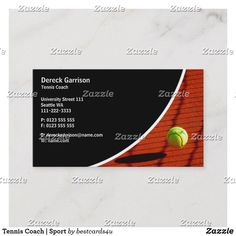 Tennis Coach   Sport Business Card Business Cards, Tennis, Things To Come, Sport, Lipsense Business Cards, Deporte, Real Tennis, Excercise, Carte De Visite
