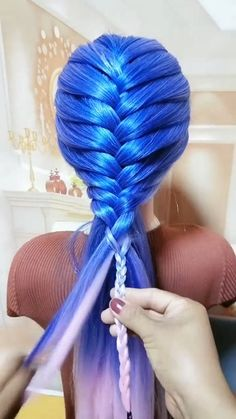 Easy Hairstyles For Long Hair, Braids For Long Hair, Girl Hairstyles, Braided Hairstyles, Hair Tutorials For Medium Hair, Girl Hair Dos, Hair Up Styles, Hair Videos, Hair Designs