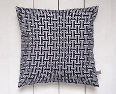 Indigo Vintage Japanese Kimono Fabric Pillow Cushion by LynnWatt, $44.00