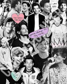 Louis Tomlinson From One Direction Collage