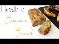 Easy healthy low fat applesauce banana bread short cut recipe minimal ingredients stir together quickly, 120 calories, 3 Weight Watchers Points Low Fat Banana Bread, Banana Bread With Applesauce, Blueberry Banana Bread, Healthy Banana Bread, Chocolate Chip Banana Bread, Blueberry Pies, Strawberry Blueberry, Healthy Deserts, Healthy Cake