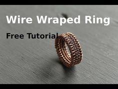 Wire weaving ring Tutorial - New Ideas Wire Jewelry Patterns, Wire Jewelry Designs, Handmade Wire Jewelry, Diy Jewelry, Jewelry Rack, Jewellery, Jewelry Ideas, Wire Jewelry Rings, Wire Jewelry Making