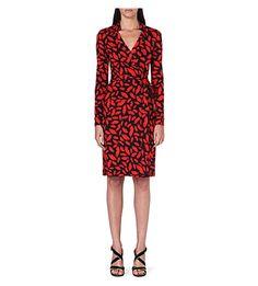 DIANE VON FURSTENBERG New Jeanne silk wrap dress (Midnight+kiss