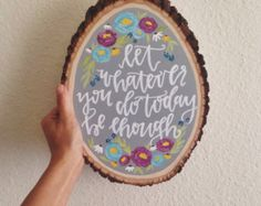 Hand Lettered Wooden Slice Art You Are My by AngelaDavidsonDesign
