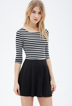 Striped Crop Top | FOREVER21 - 2000099414