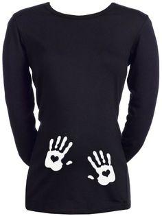 Spoilt Rotten  Love Heart Hands  Womens Maternity TShirt BLACK L