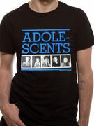 Officially licensed Adolescents t-shirt design printed on a black 100% cotton short sleeved T-shirt.