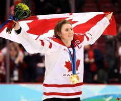 Team Canada - Hayley Wickenheiser competed in the first five Olympic Games in which women's hockey was included, winning four gold and one silver medals to make her one of Canada's most decorated Olympians. Olympic Committee, Olympic Team, Olympic Games, Olympic Athletes, I Am Canadian, Canadian Girls, Canadian Culture, Women's Hockey, Hockey Players