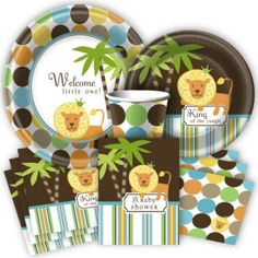 I can't decide the shower theme I like the best, but I just LOVE the idea of brown with polka dots for a boy