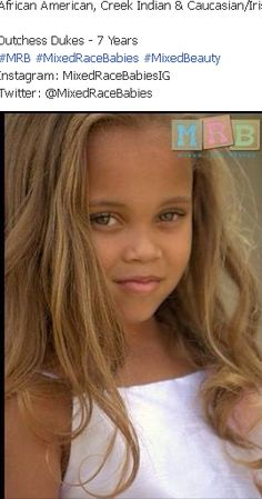 Mixed Race Babies- African American, Creek Indian and Caucasian/Irish