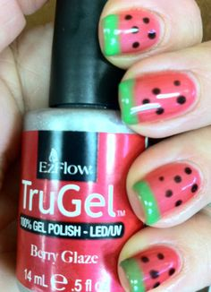 Watermellon Nails. These are seriously adorable :)