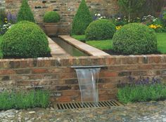 The ultimate guide to water features in your garden Pond Design, Landscape Design, Garden Design, Contemporary Water Feature, Contemporary Garden, Water Features In The Garden, Garden Features, Wall Water Features, Garden Stream