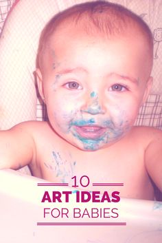 Tutus and Tea Parties: 10 Easy Art Ideas for Babies Baby Play, Infant Play, Infant Art, Infant Room, Infant Toddler, Craft Activities For Kids, Infant Activities, Kids Crafts, Toddler Fun