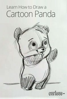 Cartoon Drawings Because doesn't everyone need to know: How to Draw a Cartoon Panda? Cute Drawings, Animal Drawings, Drawing Sketches, Sketching, Drawing Tips, Drawing Tutorials, Drawing Techniques, Art Tutorials, Cartoon Panda