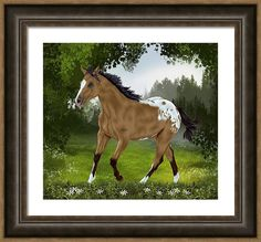 Horse Framed Print featuring the digital art Morning Rounds by Sally Lannier