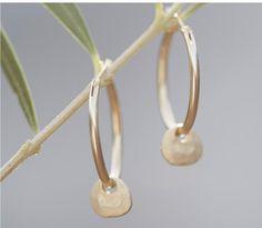 Hoop disk earrings | www.jjill.com