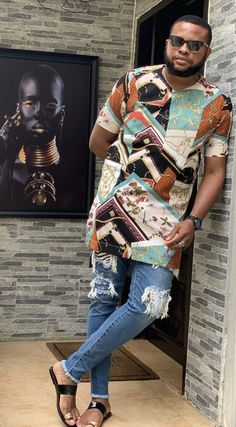 African Wear Styles For Men, African Shirts For Men, African Dresses Men, African Attire For Men, African Clothing For Men, Nigerian Men Fashion, African Print Fashion, Africa Fashion, Old Man Fashion