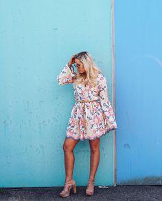"""498 likerklikk, 9 kommentarer – Lena Egeland (@lenaegelaand) på Instagram: """"Tan legs and Serena dress from @ootdno 🌸 Summer I'm ready for u! ☀️ #ootdnofashionista #ootdno…"""""""