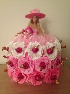 dolls made with candy | Godiva Chocolate Candy Barbie Doll Toy Birthday Party Valentin Day ...