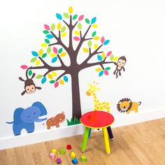 Wall Sticker Tree Branches Birds Happiness Home DIY 68*62cm Nursery High Quality