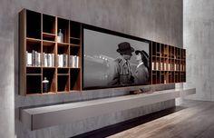 33 moderne TV-Wandpaneel-Designs und Modelle 33 Modern TV Wall Panel Designs and Models – FresHouse Tv Wall Panel, Wall Panel Design, Tv Wall Design, Long Walls, Grey Walls, Home Theather, Wall Unit Designs, Modern Tv Wall, Tv Furniture