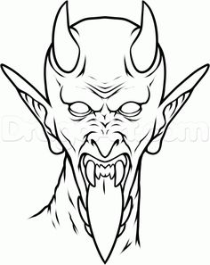 Remarkable design demon coloring pages 15 drawing color for free . Skull Hand Tattoo, Ghost Tattoo, Devil Tattoo, Satan Drawing, Demon Drawings, Easy Drawings, Moon Drawing, Drawing Stencils, Tattoo Stencils
