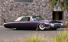 61 Ford Thunderbird; hellaflush, hellacool...