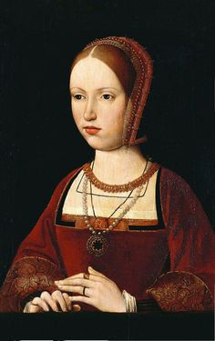 A century portrait, possibly of Margaret Tudor, Queen of Scots; Margaret was the sister of Henry VIII of England and paternal grandmother of Mary Queen of Scots. Costume Renaissance, Renaissance Portraits, Renaissance Fashion, Tudor Fashion, Renaissance Era, Tudor History, European History, British History, Asian History