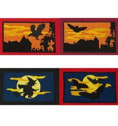 Halloween Stickdatei Hexen Stickdateien Fledermaus Stickmotive Mond