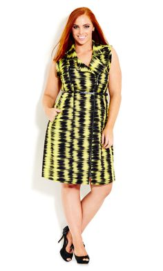 City Chic - FEEL THE BEAT DRESS - Women's Plus Size Fashion