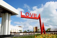 LOVE sign at the new Finest Playa Mujeres Resort in Cancun, Mexico. Photo by Jonathan Cossu Photographer