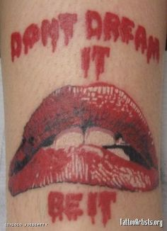 nice ! thats art! Rocky Horror Picture Show tattoo. :)