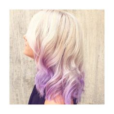 18 Inch Ombre Blonde to Lavender Human Hair Extensions Double Wefted ($144) ❤ liked on Polyvore featuring beauty products, haircare, hair styling tools, bath & beauty, hair care, hair extensions, silver and curly hair care