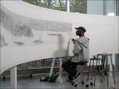 Autistic artist, Stephen Wiltshire, draws New York panorama entirely from memory after only a 20 minute helicopter ride! Stephen Wiltshire, Autistic Artist, Autistic Kids, New York Cityscape, New York Pictures, City Landscape, Imagines, Amazing Art, Art Gallery