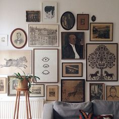 Gorgeous gallery wall with vintage inspired prints