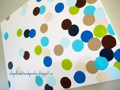 Colourful Graduated Polka Dot Painted Art think i want to paint something like this for the baby's room