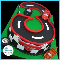 #3 Carved Cars Themed Cake – Blue Sheep Bake Shop