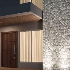 Revestimento de parede retificado 60x60cm Sense Abstract mix mat 5 peças Portinari - Telhanorte