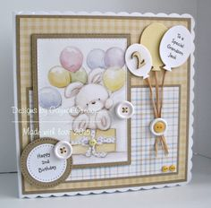 Designs by Gaynor Greaves - December 2015 Girl Birthday Cards, Happy 2nd Birthday, Hunkydory Crafts, New Baby Cards, Square Card, Little Books, Kids Cards, Cute Cards, Making Ideas