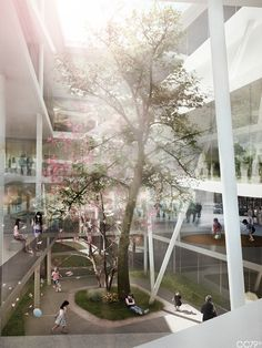 Daegu Gosan Public Library by cristian chierici, via Behance