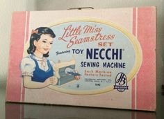 Toy Necchi sewing machines 1940s
