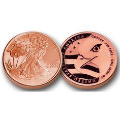 Morgan Leaf Eagle Style // Stamped .999 Fine 1 Pound Copper Bar 2011 Liberty