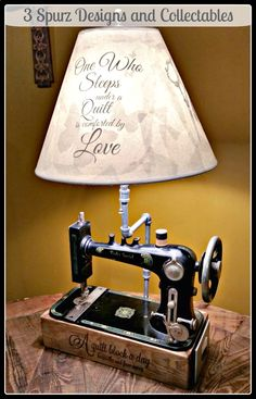 3 Spurz DC Repurposed /Refurbished Creations!!: Repurpose Sewing Machine lighting