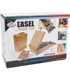 Ethan loves to draw, sketch, paint and he gets super excited about it. Does not have to be this set but there is sets that comes with the easel and materials.
