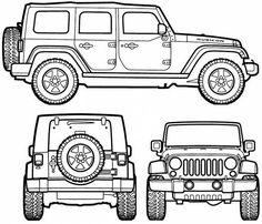 Jeep Wrangler Unlimited (2007) voor kamer Boet