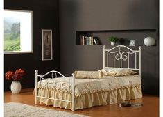 1354-westfield-metal-bed-set-full-w-rails - Free Shipping! – RauFurniture.com
