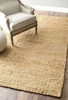 Natura Handspun Jute Natural Rug   Solid & Striped Rugs / Rugs USA / for dining room