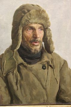 A piece of art that depicts a #Russian peasant man - incredible! Plan a tour at the Institute of Russian Realist Art in #Moscow. www.russiantourguide.com.
