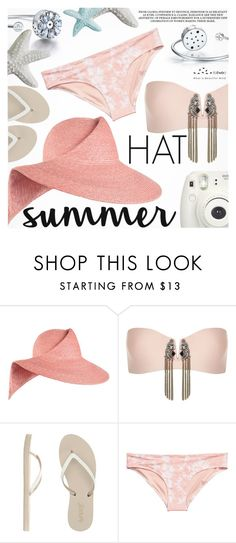 """Summer Hat"" by totwoo ❤ liked on Polyvore featuring Eugenia Kim, River Island, Reef, H&M and Fujifilm"